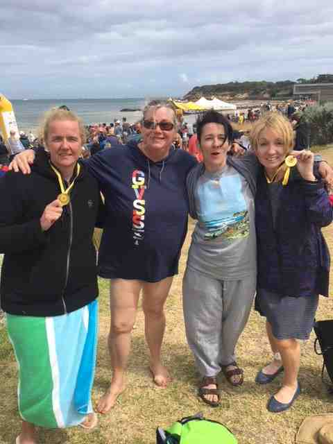 Andy, Mary Catherine, Jo and Lindy @ Point Lonsdale - 2017