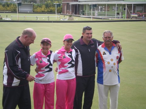 Steve Glasson, Kaye Moran, Karen Murphy, Kelvin Kerkow and Norm Box
