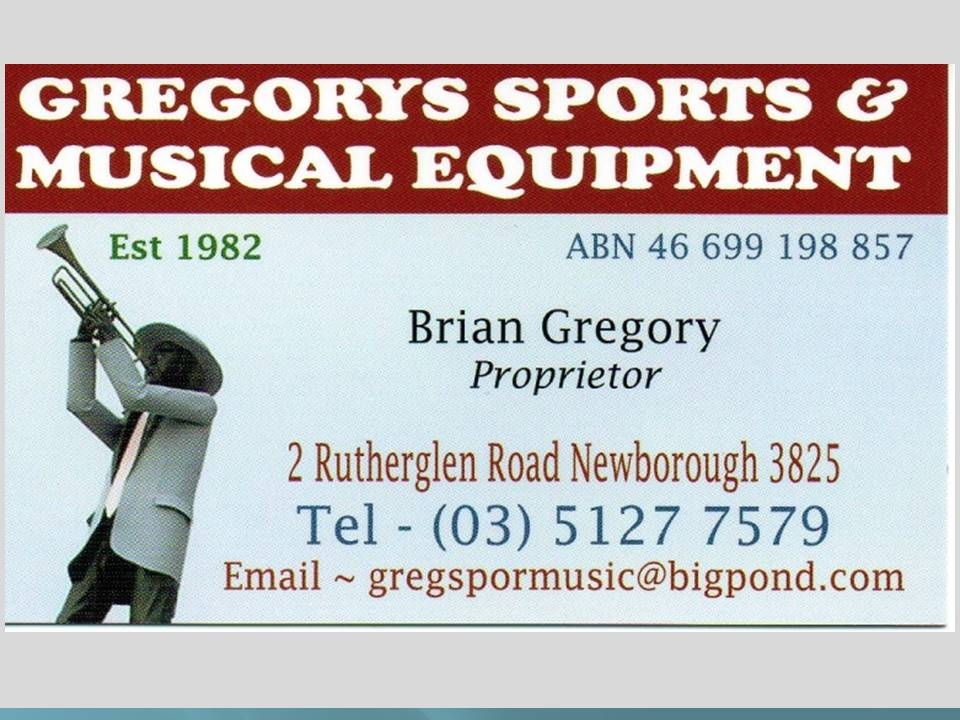 GREGORY'S SPORTS & MUSICAL INSTRUMENTS