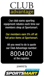 Sportsmart Club Advantage. Support your club. Shop at Sportsmart