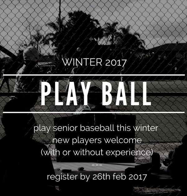 Senior Baseball Winter 2017