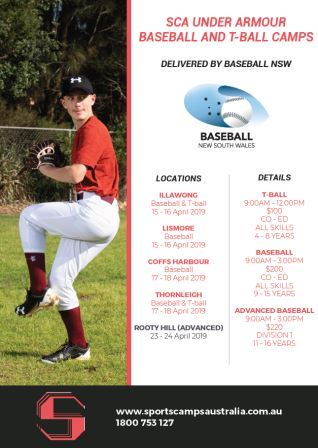 April Baseball Camp Times and Dates