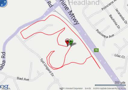 Buderim GPS track